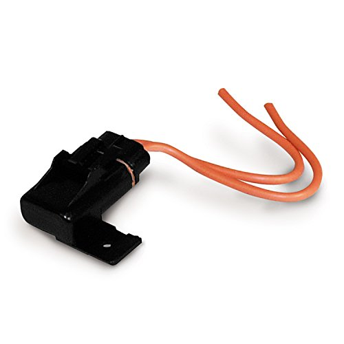 Calterm 08231 Weatherproof Panel Mount ATO & ATC Fuse Holder, 10 AWG, 30A, Black