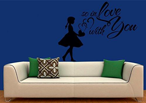 meSleep Love You Valentine Design Black Wall Sticker
