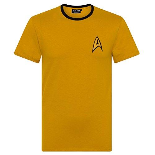 Star Trek Official Gift Mens Command Uniform T-Shirt (Star Trek Xl)