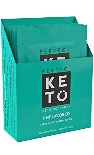 Perfect Keto Collagen Protein (Unflavored, 5 Individual Single Serve)