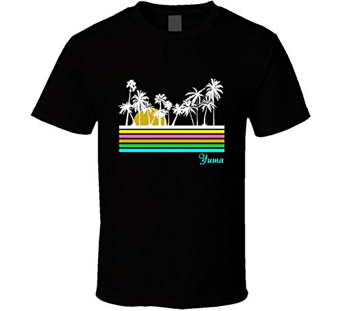 Jokertshirt Yuma Glorious Sunrise Palm Trees Favorite City T Shirt L - Palms Yuma