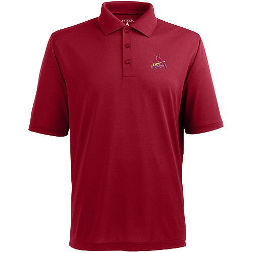 St. Louis Cardinals Classic Pique Polo by Antigua - Dark Red (Cardinals Classic Pique Polo)
