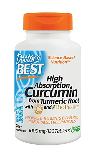 Doctor's Best Curcumin From Turmeric Root  with C3 Complex & BioPerine, Non-GMO, Gluten Free, Soy Free, Joint Support, 1000 mg, 120 Tablets (Tablets Heart 120 Support)