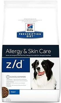 Pienso Hill's Prescription Diet Z/D Food Sensitives para perros con intolerancias o alergias alimentarias para mejorar la piel. Peso: 12kg