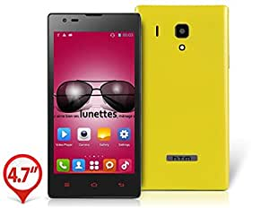 "HTM M1 4.7"" Capacitive Touch 854x480 Android 4.2 Dual Core MTK6572W 1.3GHz 512MB RAM & 4GB ROM 3G Smartphone with GPS, Wi-Fi, Bluetooth, Dual Camera (Yellow)"