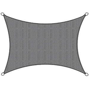 Sol Royal Toldo de terraza SolVision HS9 Vela de Sombra Toldo Parasol 300×200 cm HDPE Transpirable Antracita protección UV