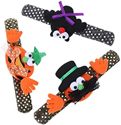 Halloween bracelet pumkin orange and black childrens party