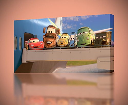 Cars Movie 3 Mcqueen Mater CANVAS PRINT Home Wall Decor Giclee Art Disney CA586, Small