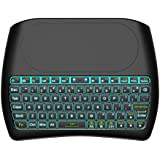 Backlit Mini Wireless Keyboard with Touchpad by Tripsky, 2.4GHz Colorful D8 Mini Keyboard,Handheld Remote for Android TV Box, Windows PC, HTPC, IPTV, Raspberry Pi, Xbox 360, PS3, PS4 (Black)