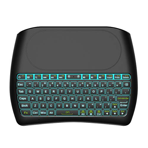 - Backlit Mini Wireless Keyboard with Touchpad by Tripsky, 2.4GHz Colorful D8 Mini Keyboard,Handheld Remote for Android TV Box, Windows PC, HTPC, IPTV, Raspberry Pi, Xbox 360, PS3, PS4 (Black)