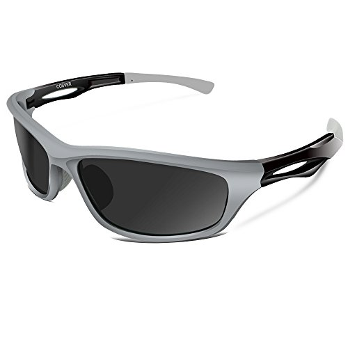 8bc5564485 COSVER Polarized Sports Sunglasses for Men Women Cycling Running Driving  Fishing Golf Baseball Glasses (gray