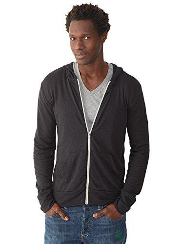 Alternative+Men%27s+Eco+Zip+Hoodie+Sweatshirt+Shirt%2C+Black%2C+Medium