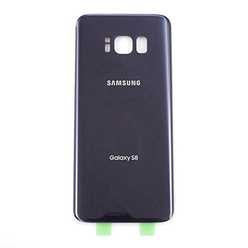 Battery Door Back Cover Glass Housing Case Battery Cover Adhesive Sticker for Samsung Galaxy S8 G950 with Two Logo (Gray)