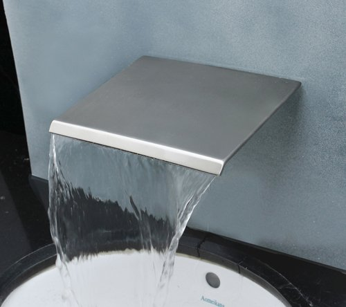Aquafaucet Brushed Nickel Wall Mount Bathtub Cascade Waterfall Spa Bath - Waterfall Cascade