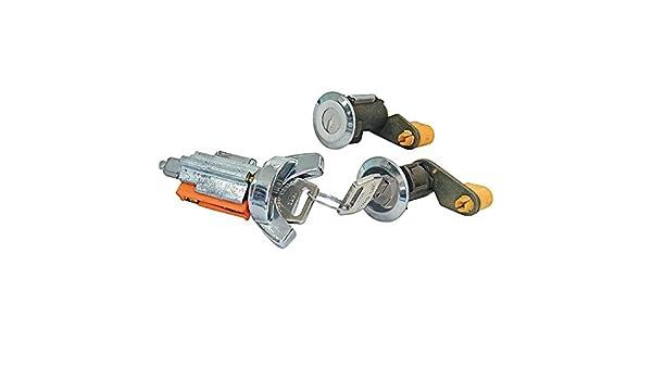 Door Lock Ignition Cylinders with Keys Set 1973-75 Maverick Mercury Comet LCK4 Cougar Mustang Thunderbird