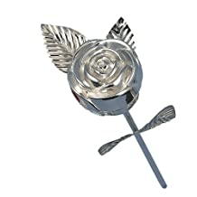 Hortense B. Hewitt Wedding Accessories Silver Plated Rose Ring Box, 9-Inch Long
