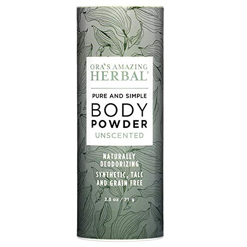 All Natural Unscented Body Powder and Dry Shampoo, Fragrance Free Dusting Powder, Talc-Free, No Corn, Grain, Gluten, GMO, Foot Powder, Ora's Amazing Herbal ()