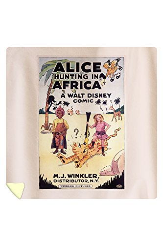 Alice Hunting in Africa Vintage Poster USA c. 1926 (88x88 Queen Microfiber Duvet Cover) by Lantern Press