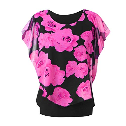 Women's Fashion Round Neck Plus Size Sleeve Print Top, used for sale  Delivered anywhere in USA