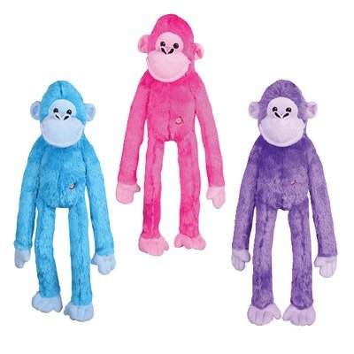 Grriggles Awesome Ape Pet Toy, Pink
