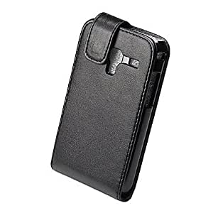 Elegant PU Leather Full Body Flip Case Cover for Samsung Galaxy Ace Plus S7500-Black --- COLOR:Black