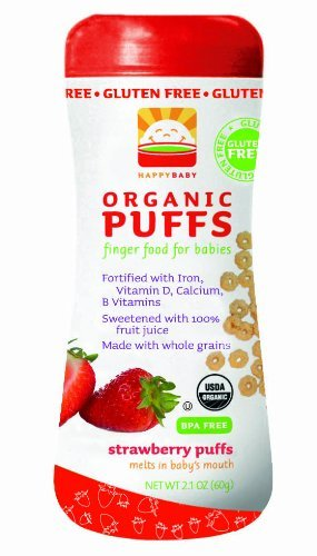 Happy Baby Organic Strawberry Puffs (3x2.1oz)