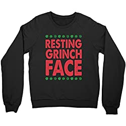 ugly christmas sweater resting grinch face sweater funny christmas shirts