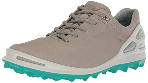 ECCO Women's Cage Pro Gore-TEX Golf Shoe, Wild Dove/Porcelain Green, 39 M EU (8-8.5 US)