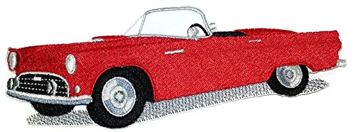 - Classic Cars Collection [Thunderbird] [American Automobile History in Embroidery] Embroidered Iron On/Sew patch [6.5
