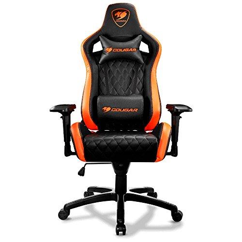 Cougar Armor-S Ergonomic Comfortable Gaming Chair, Orange/Black
