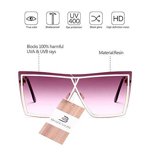 de sol Mujer de UV400 estilo BOZEVON Hombre 07 para Gafas Estilo Verano y Último Unisex nq4YX
