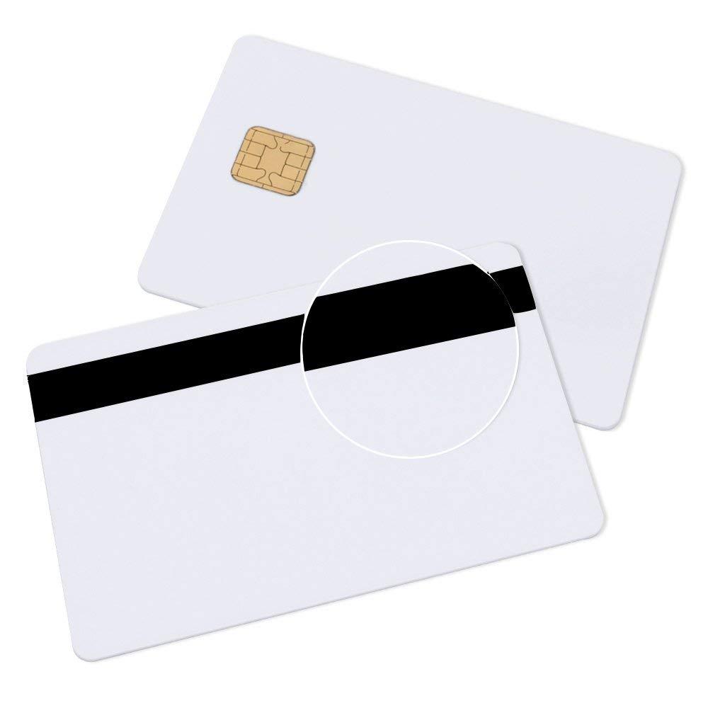 Java Chip Smart Card JCOP 40K J2A040 Java Card con 3 binari 12,7 mm banda magnetica HICO//LOCO-40 Pack