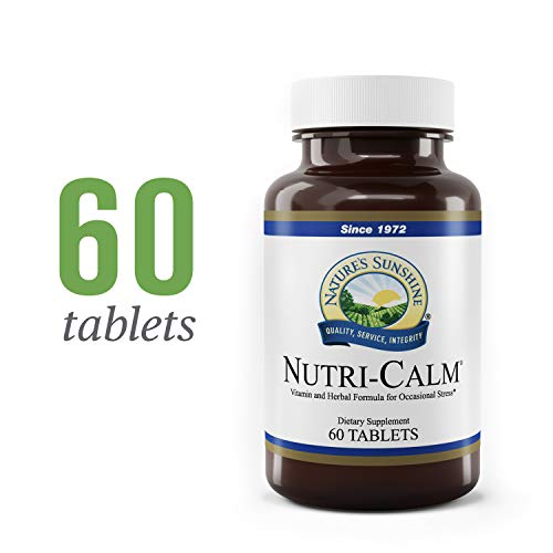 Nature's Sunshine Nutri-Calm, 60 Tablets | Natural Anxiety Supplement to Promote Peace of Mind and Cope with Occasional Stress