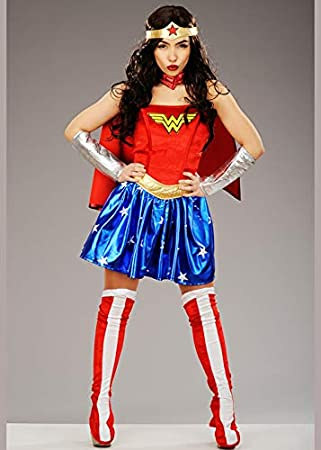Magic Box Disfraz de Superhero Wonder Woman para Adulto XS (UK 8 ...