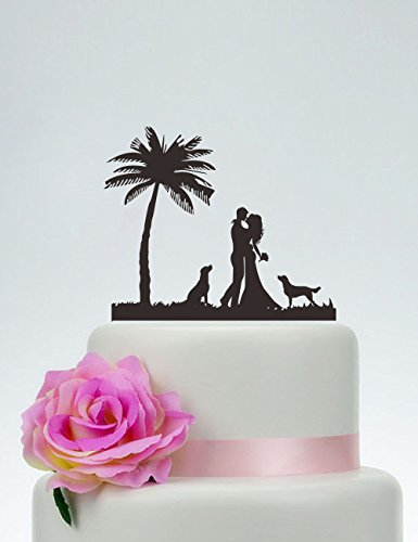 41Q0yeIwmiL The Best Palm Tree Wedding Cake Toppers