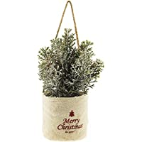The Bridge Collection Potted Pine Tree in Burlap Sack Ornament
