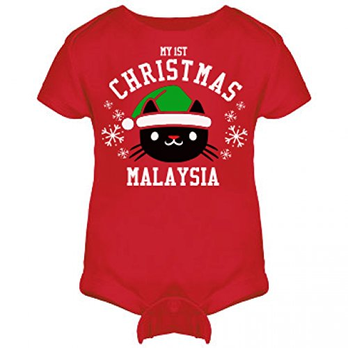 My 1st Cat Christmas Outfit For Malaysia: Infant Rabbit Skins Lap Shoulder Creeper