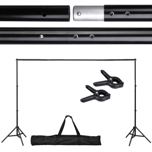 Adjustable Background Backdrop Support Stand Crossbar System Photo