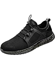 ZOZOE Men Women Indestructible Trainers Lightweight Shoes Steel Toe Boot Safety Breathable Work Sneakers
