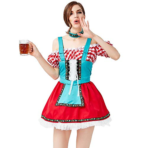 Xcfypiao Cheerleader Fancy Dress,Women's Adult Uniform Traditional Oktoberfest