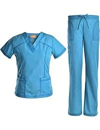 Medical Uniform Women Scrubs Set Jeanish Washed Superior Softness -JS1605