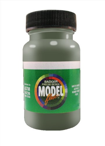 Badger Air-Brush Co. 26-104 2-Ounce Modelflex Military Airbrush Ready Water Based Acrylic Paint, Dark Green