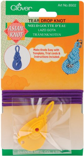 (Clover Asian Knot Template, Teardrop )