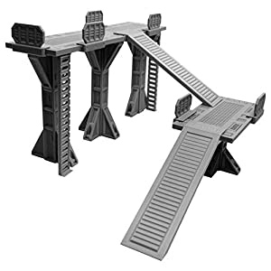 EnderToys Multi-Level Industrial Skirmish Field, Terrain Scenery for Necromunda, Kill Team, Compatible with Sector Mechanicus, 3D Printed and Paintable