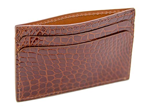 Cognac ID USA Case Genuine Hadley Alligator Card Bryant Park Roma FnTBP