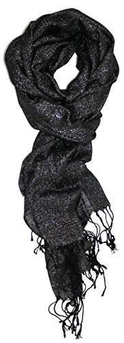 Ted and Jack - Hollywood Dreams Sparkling Metallic Scarf (Jet ()