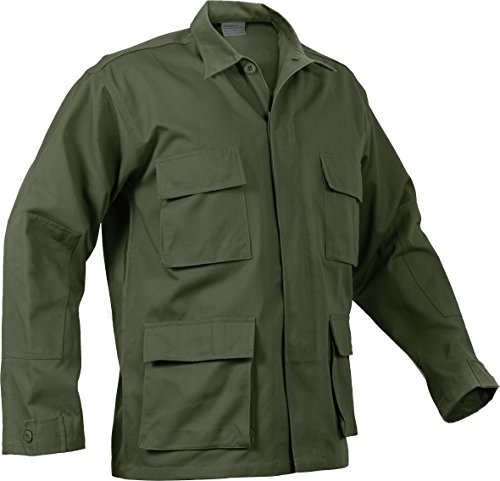 - Military Men's 100% Cotton Rip Stop BDU Shirt, Made in USA