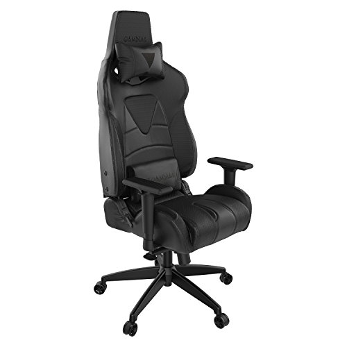 GAMDIAS Multi-Color RGB Gaming Chair High Back Adjusting Headrest and Lumbar, Black/Black (Achilles M1 Black/Black)
