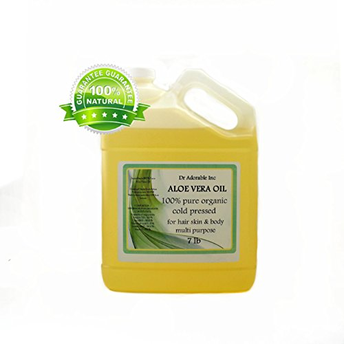 Aloe Vera Oil Pure Organic Cold Pressed by Dr.Adorable 128 Fl.Oz/1 Gallon/7 Lb