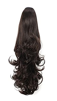 "OneDor 20"" Curly Synthetic Clip In Claw Drawstring Ponytail Hair Extension Synthetic Hairpiece 190g with a jaw/claw clip"